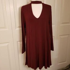 Burgundy Express Dress